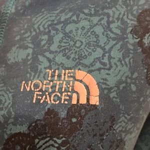 The North Face Tops - The North Face 1/2Zip Deep V-Neck Floral Hoodie-XS